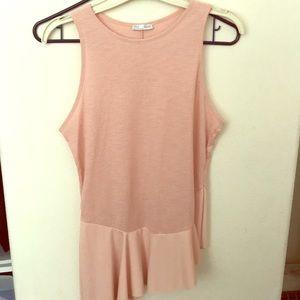 Zara pink asymmetrical pink top